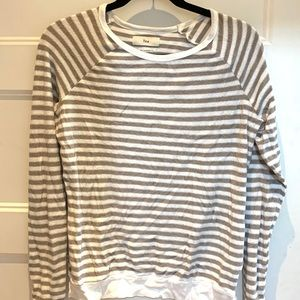 Terry cloth striped sweater